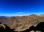 Вид на центр острова Гран-Канарии от Ventana del Nublo