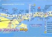 Карта Варадеро левая часть (Куба)