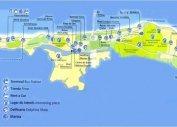 Карта Варадеро правая часть (Куба)
