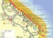 Туристическая карта морского побережья Пунта Каны (Доминикана)